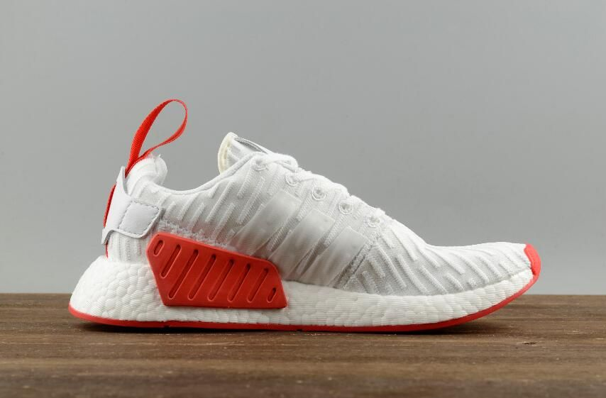 new product fd724 7967d Adidas Originals NMD R2 PK White Red BA7253 Men Running ...
