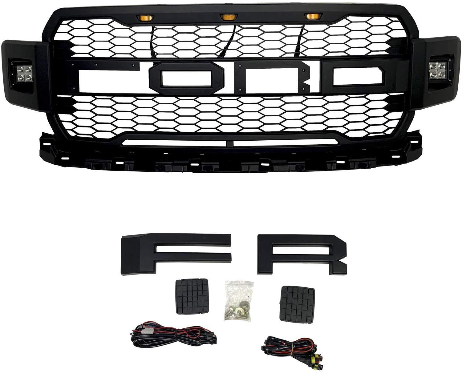 08 10 Ford F250 F350 F450 F550 Super Duty Front Bumper Grille Led