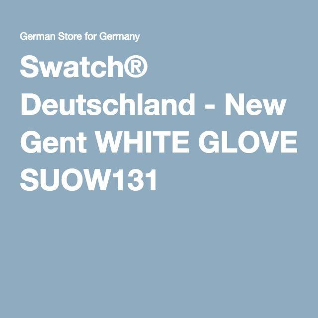 Swatch® Deutschland - New Gent WHITE GLOVE SUOW131