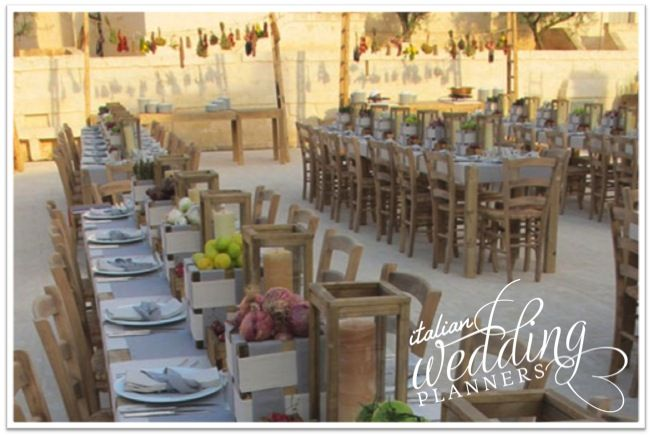 Italian style wedding  reception