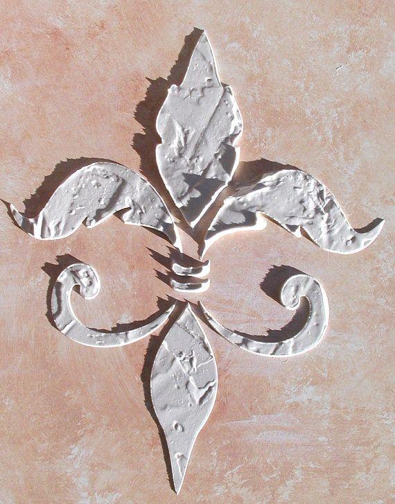 Raised Plaster Fleur De Lis Stencil By Victorysprings On Etsy 12 99