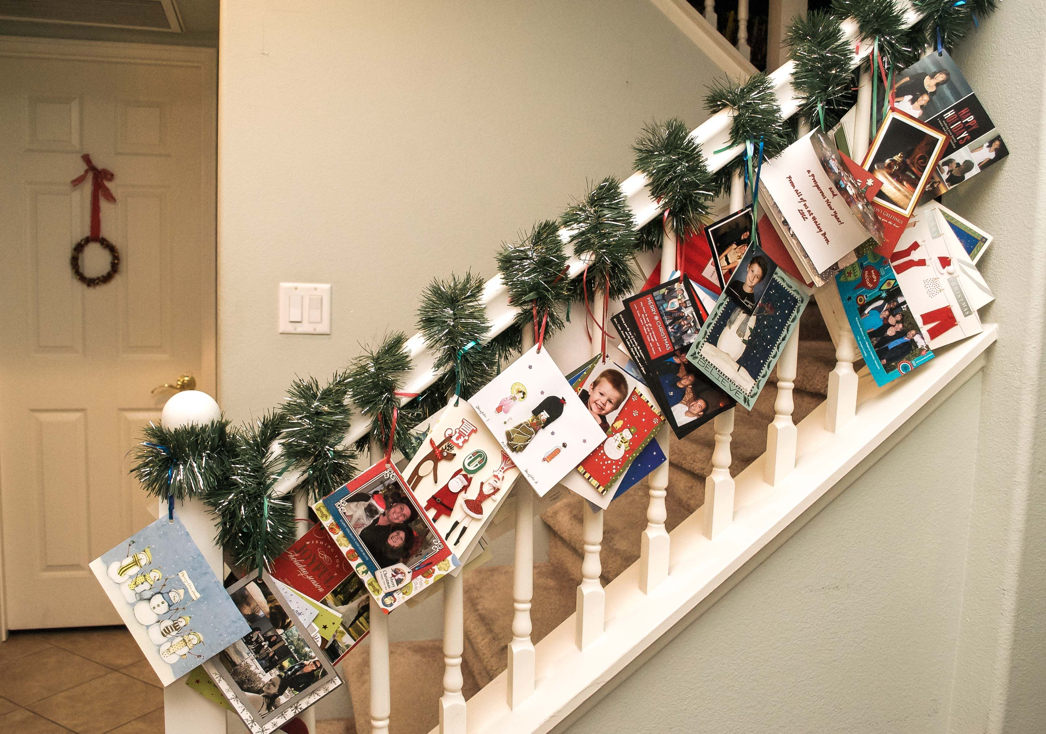 How To Hang Christmas Cards - House Beautiful - House Beautiful