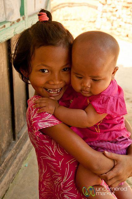 Khashia Baby and Young Girl - Outside Srimongal, Bangladesh by uncorneredmarket, via Flickr