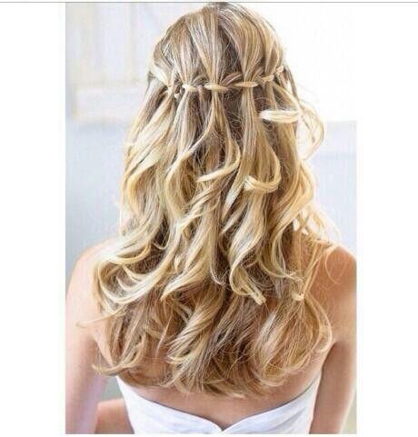 pin von sinem auf hair   frisur hochgesteckt, wasserfall
