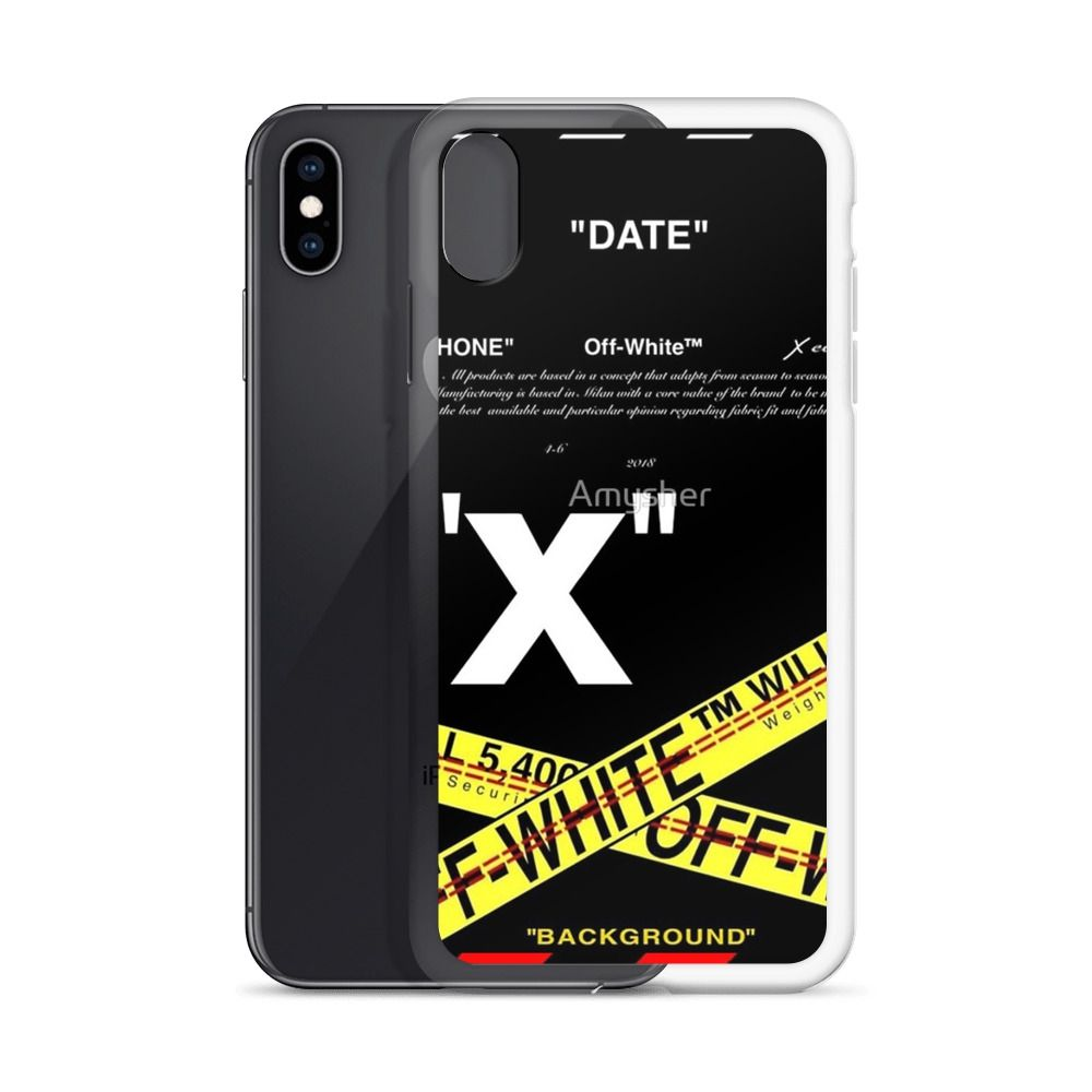 Date off white custom iphone x case iphone xs and iphone