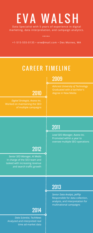 Colorful Career Timeline Infographic  Canva  Business