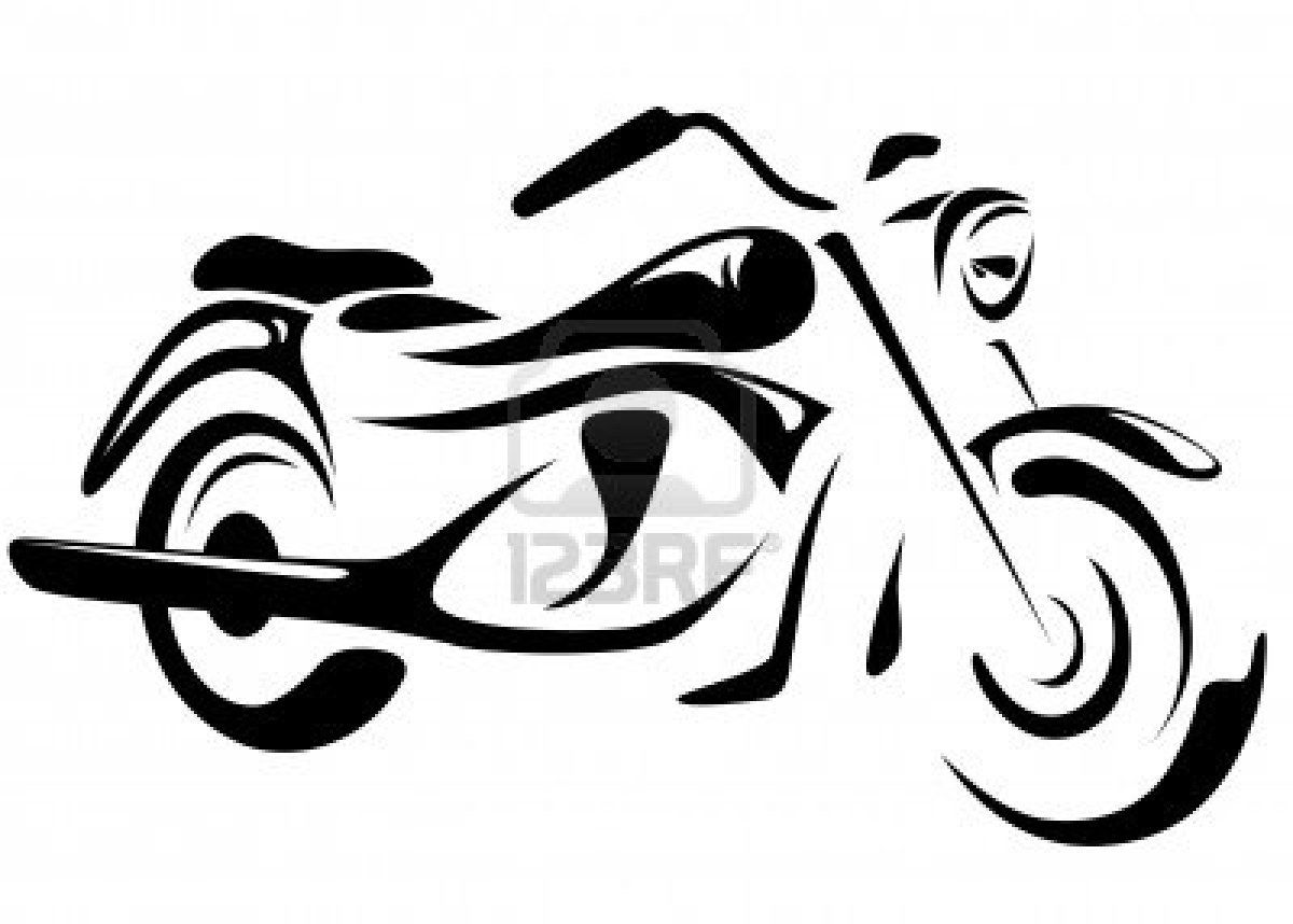 Motorbike Vector Illustration Motorbike Drawing Silhouette Stencil Motorcycle Drawing