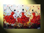 Live Love Dance Original 24x36x15 Contemporary Dance Painting Dancers   πινακες κατασκε&up...