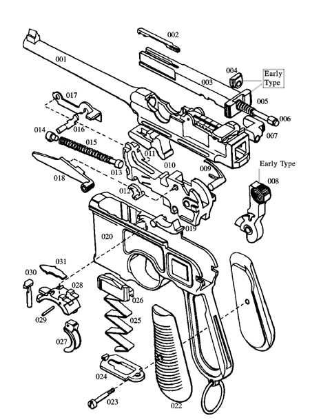 handgun parts diagram