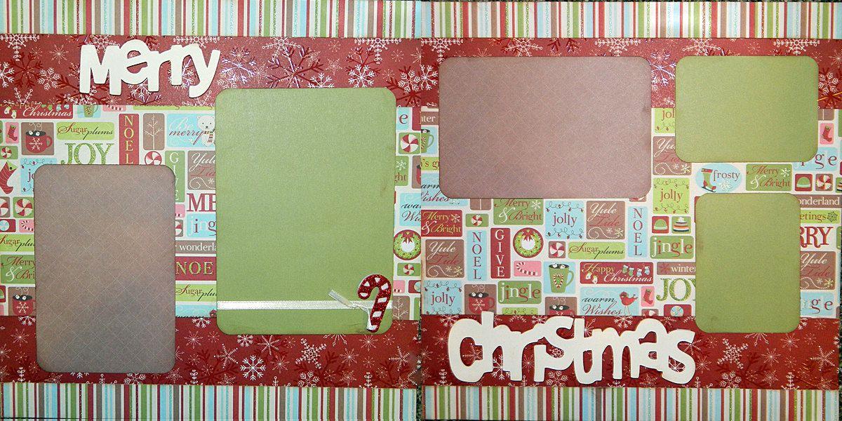 Christmas Scrapbook Layouts Scrapbooking Layout 2 Page