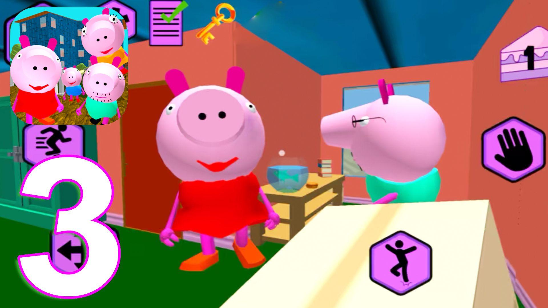 Piggy Neighbor Family Escape Obby House 3d Gameplay Walkthrough Part 3 Level 3 Ios Android Piggy Gameplay Family