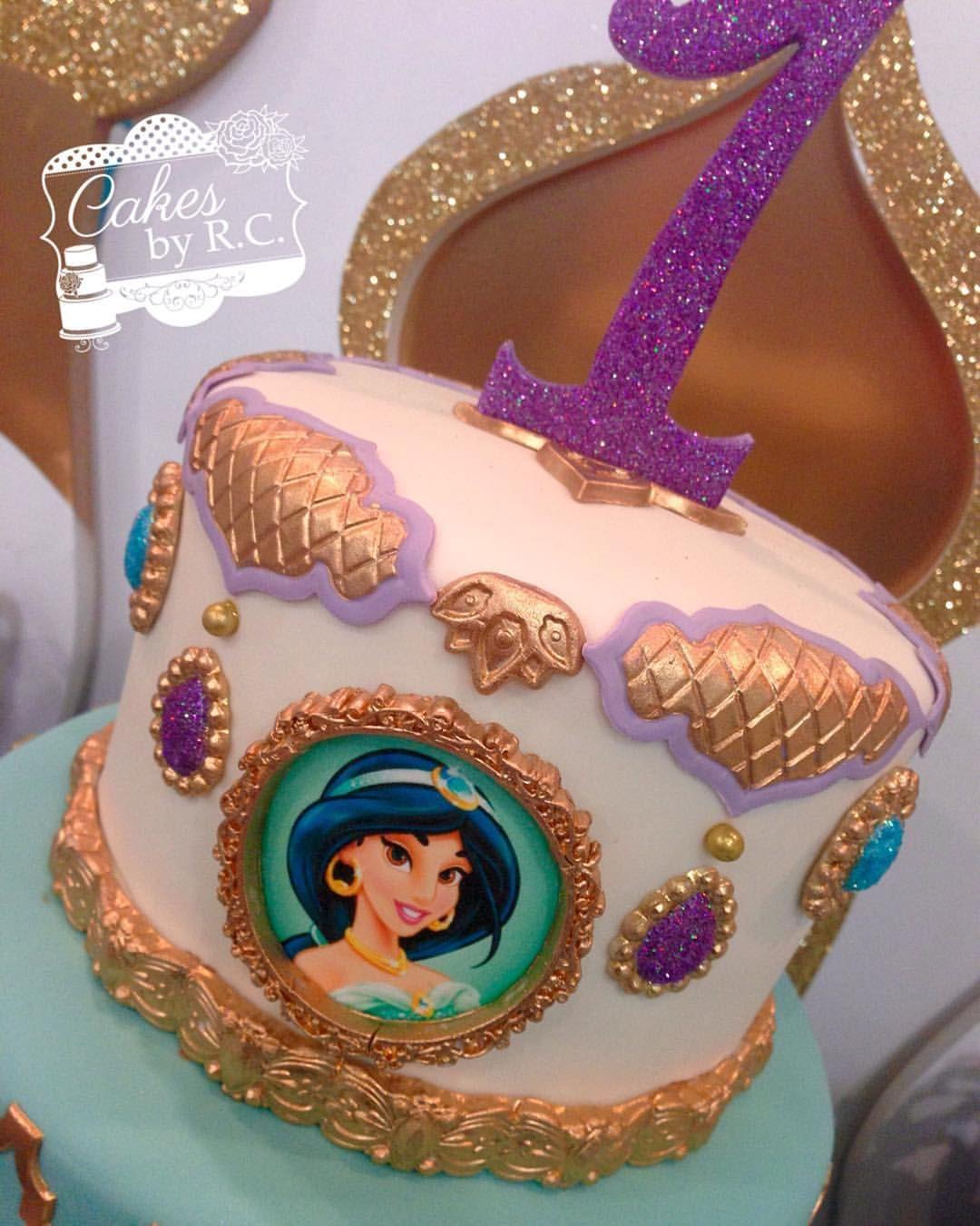 Superb Tbt Jasmine Inspired Cake Cakesbyrc Cakedecorator Jasmine Personalised Birthday Cards Arneslily Jamesorg
