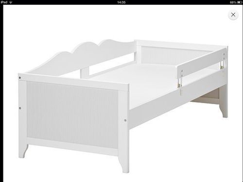 Ikea Hensvik White Childrens Toddler Bed With Mattress And Protector