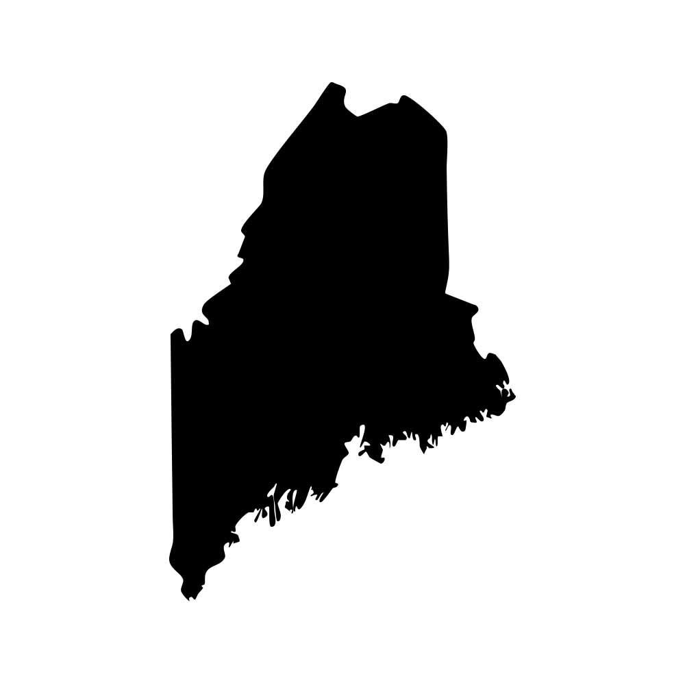Maine Pine Tree State New England Pride Decal Sticker Black 5 Vinyl Decal For Cars Macbooks And Vinyl Vinyl Decals Decals Stickers [ 1000 x 1000 Pixel ]