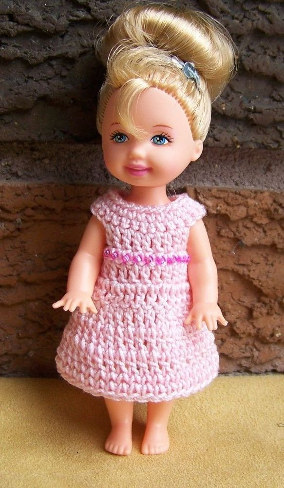 red Hand crocheted Mattel Kelly Doll Clothes
