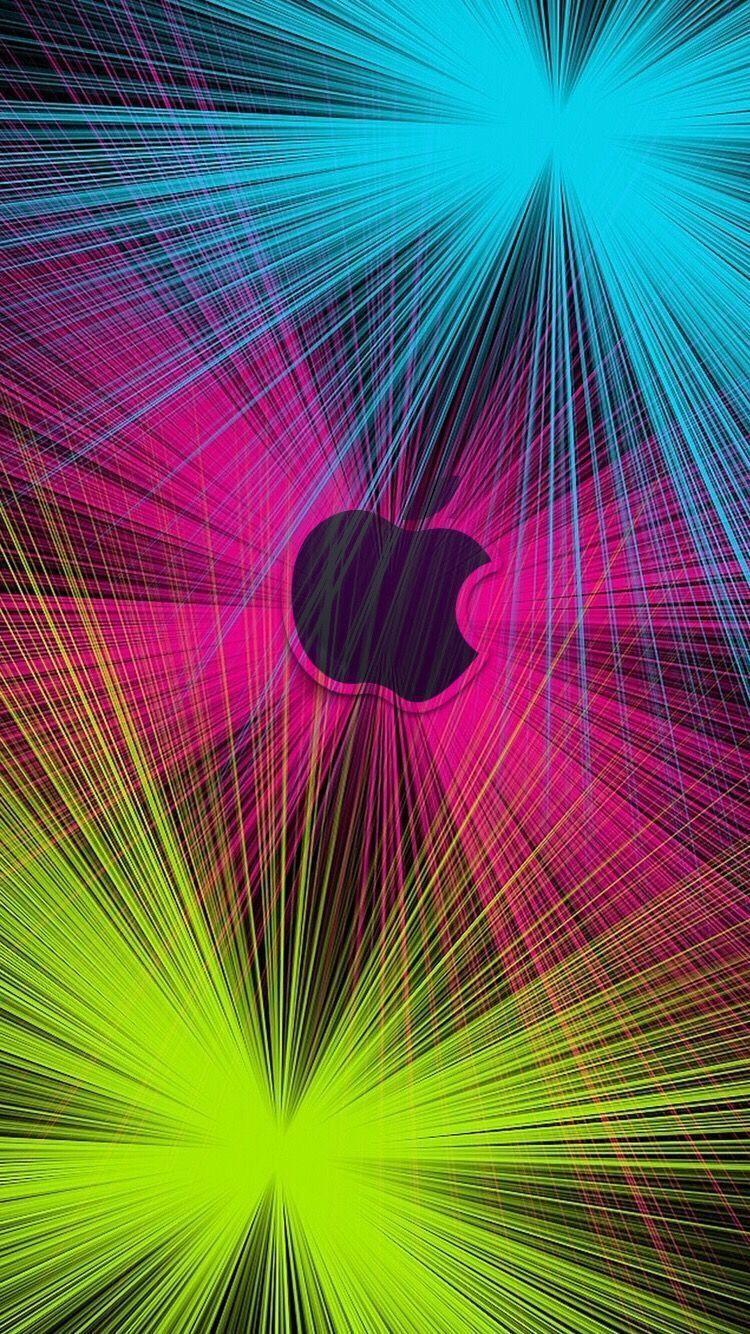 Laser Light Apple Apple Logo Wallpaper Iphone Apple Wallpaper Neon Wallpaper