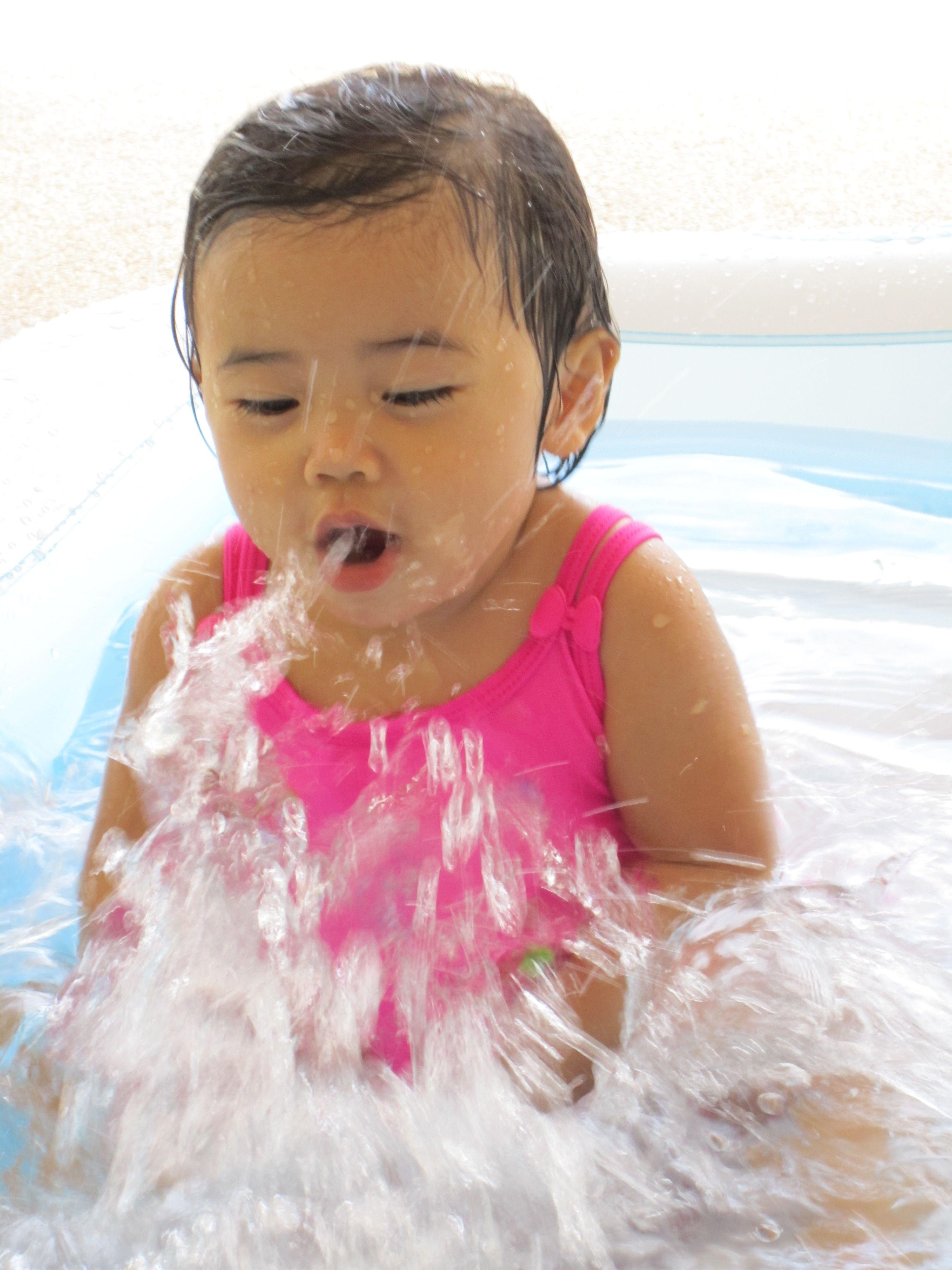 angeliney angeline yu Loving the water - Anikas First Swim