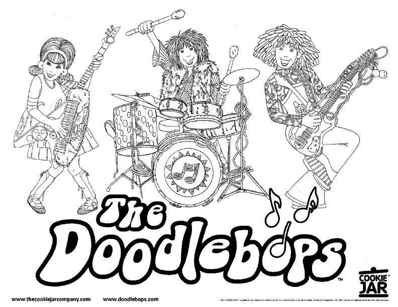 Doodlebops Coloring Sheet | Diem\'s Birthday Ideas | Pinterest ...