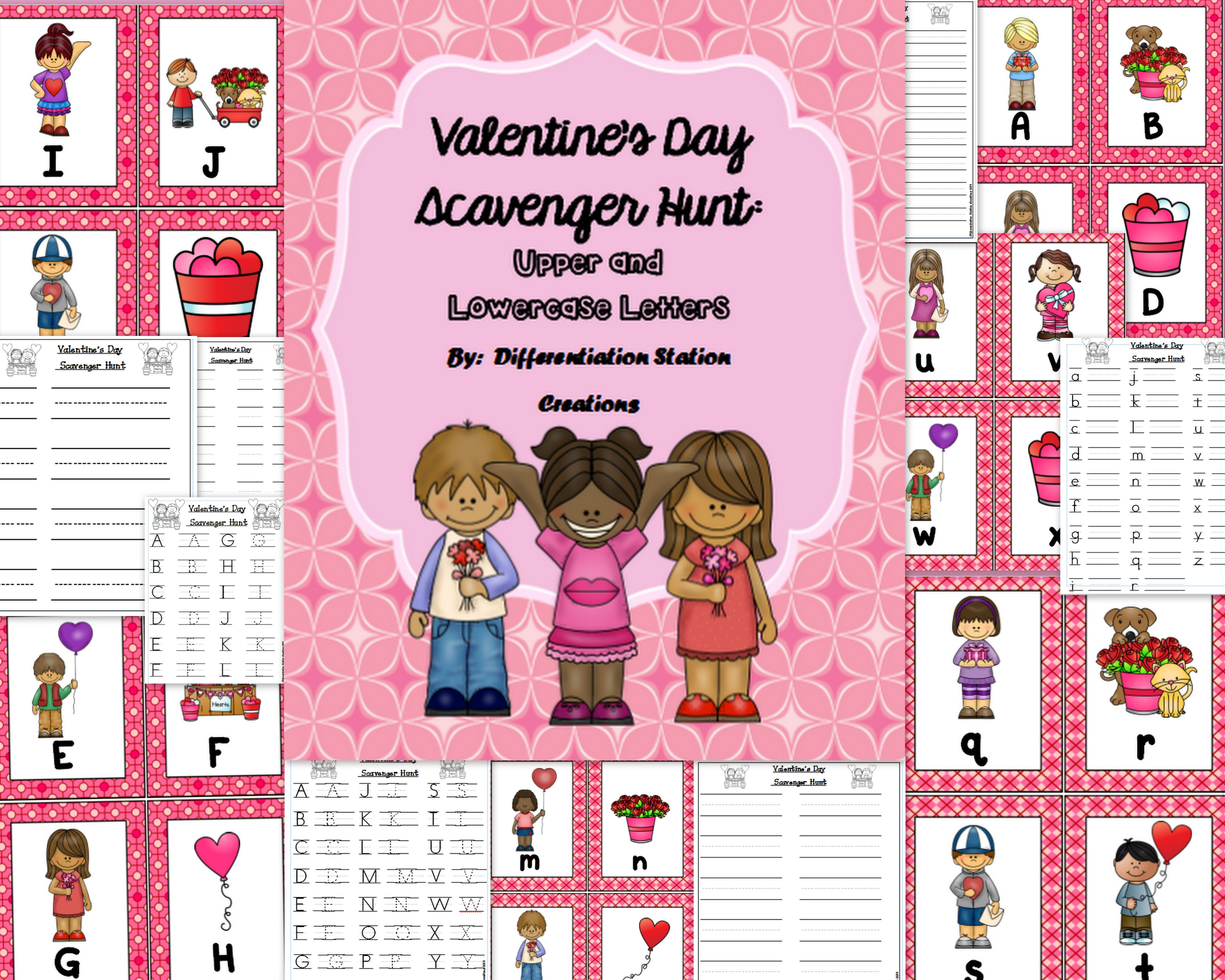 Valentine S Alphabet Scavenger Hunt Upper And Lowercase