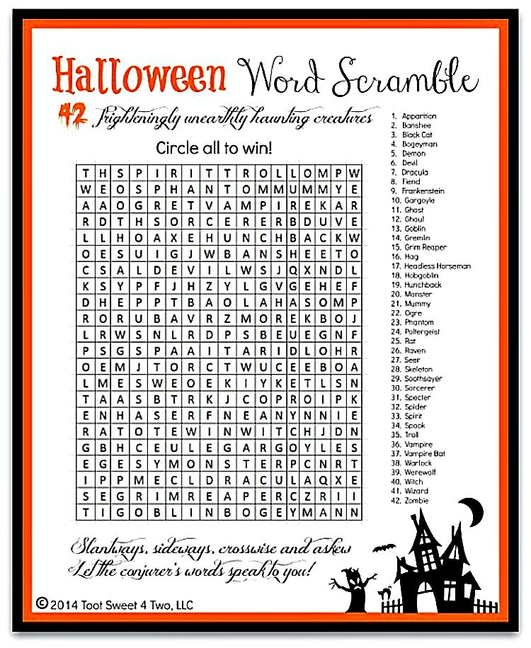 Scary and Cute FREE Halloween Printables Free halloween printables - free halloween decorations printable