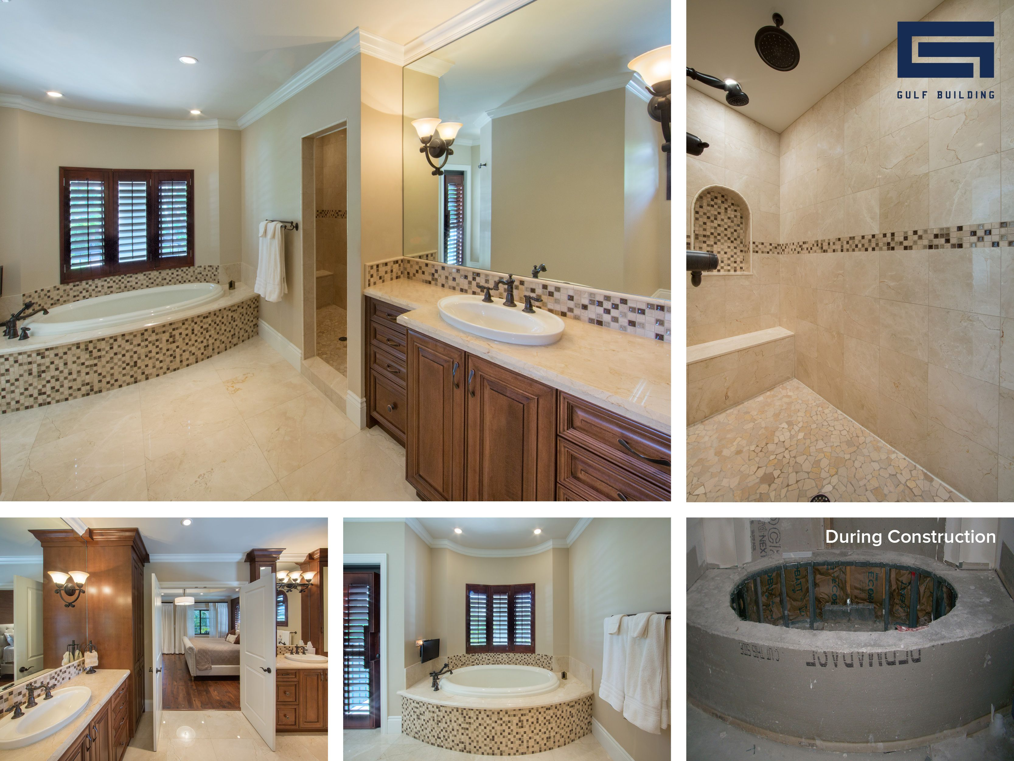 This Modern Master Bathroom Design Has A Large Built In Tub An Oversize Shower As Well As Other Luxurious Modern Master Bathroom Design Master Bathroom Design