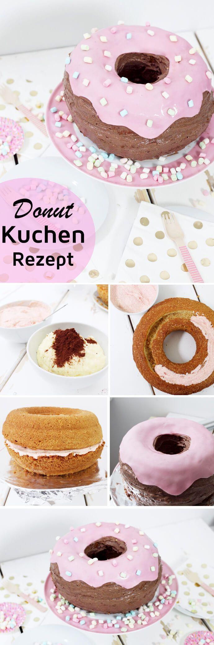 Ausgefallene Kuchen Rezepte: Donut Torte backen