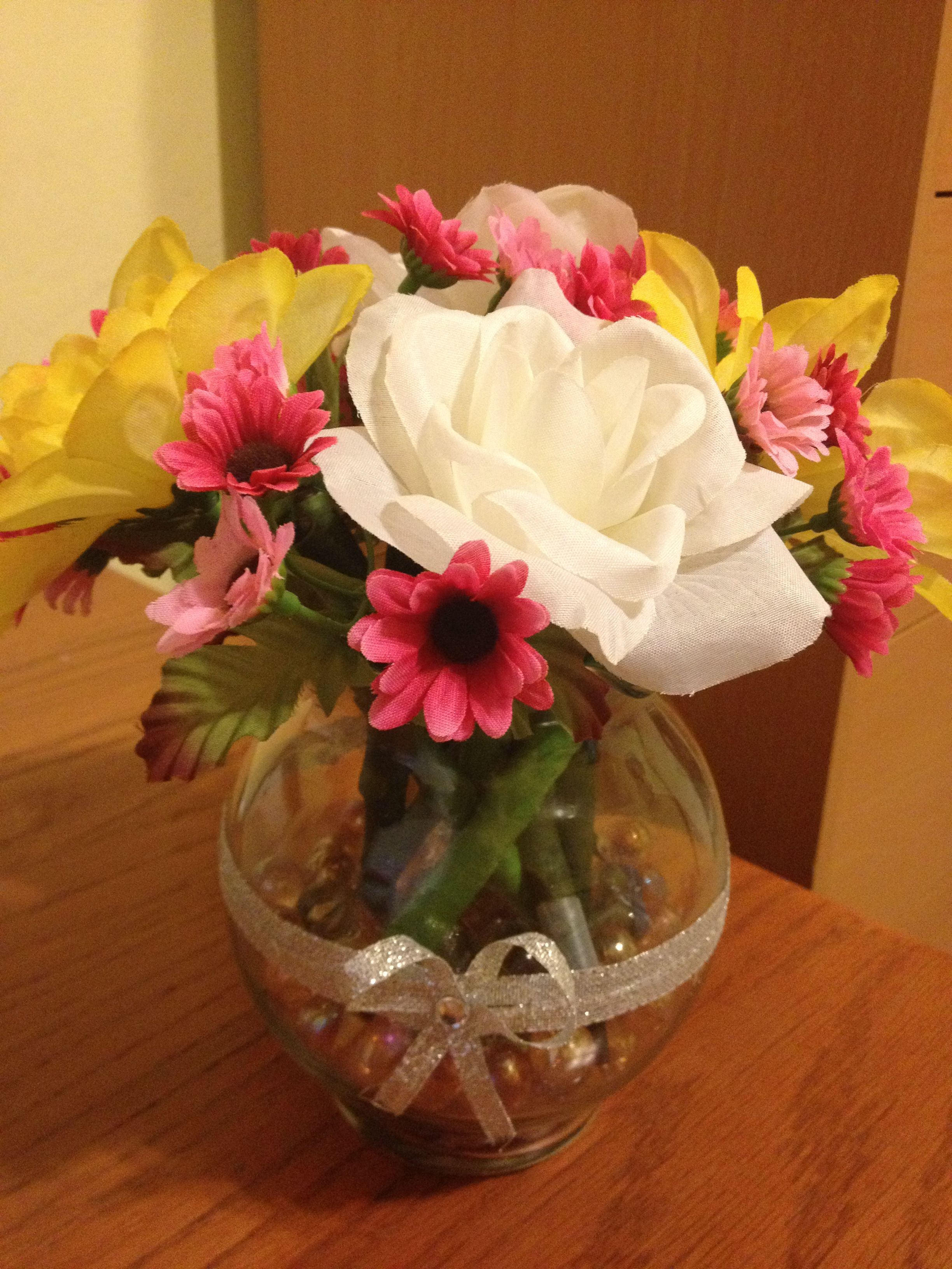 DIY flower pen bouquet | My Crafts | Pinterest | Flower pens, Diy ...