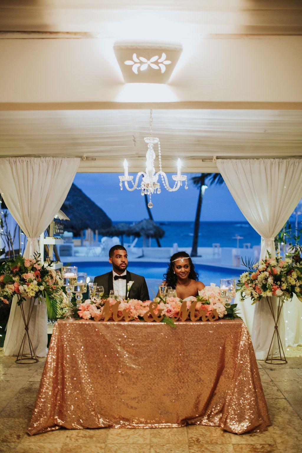Pastel blue wedding decor  Pin by Kukua Weddings Punta Cana on Sweetheart table  Pinterest