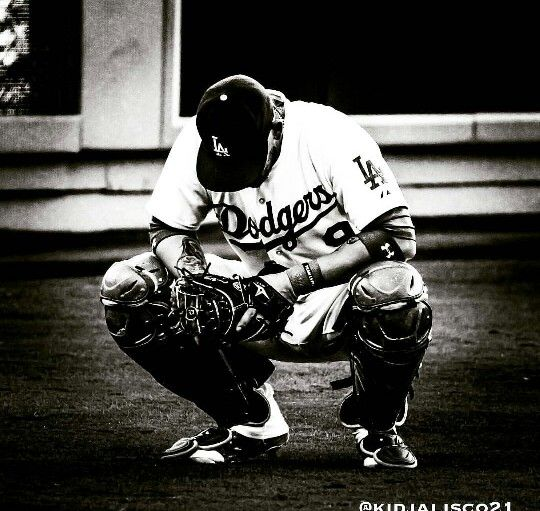 Yazmani Grandal.... In prayer before his game
