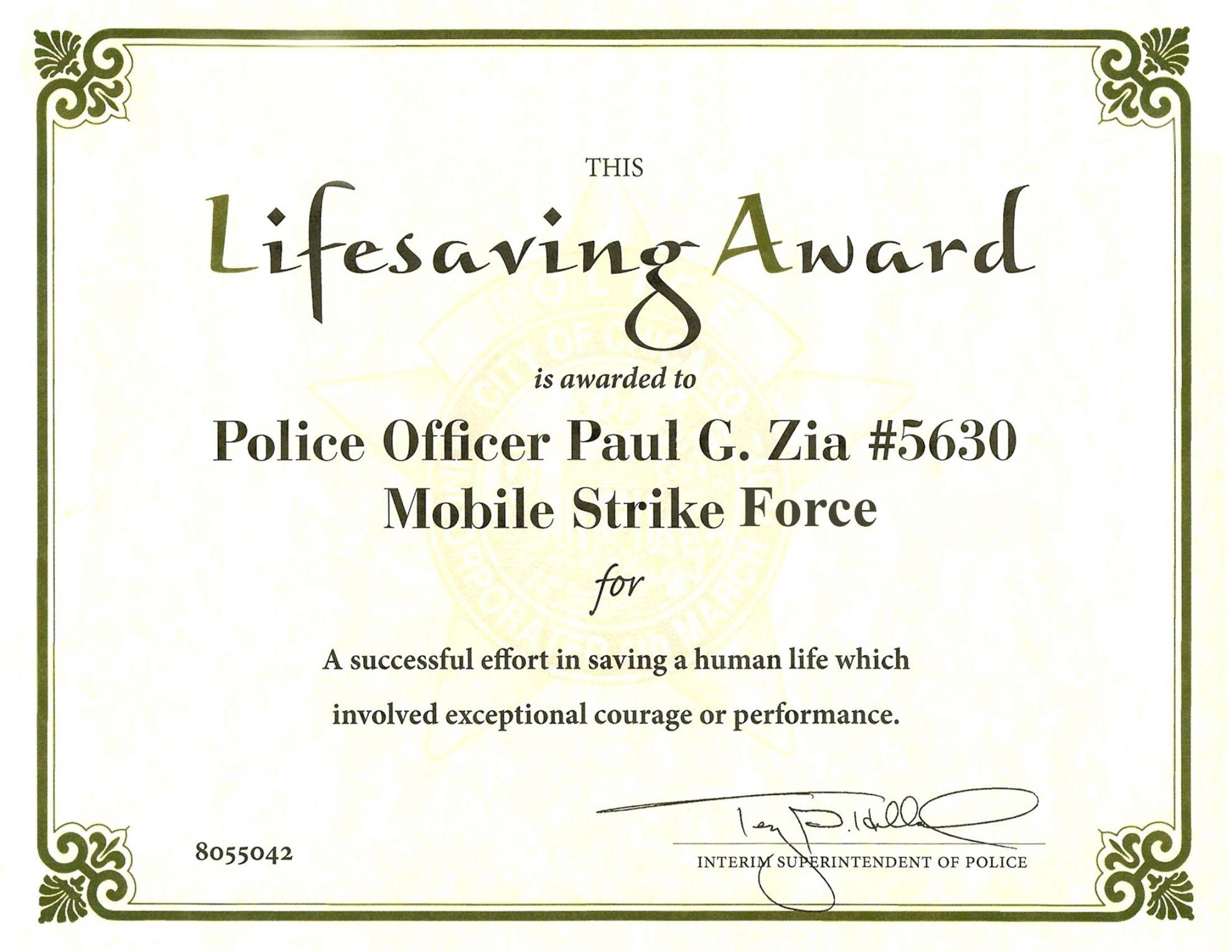 Explore Our Free Life Saving Award Certificate Template Awards Certificates Template Certificate Templates Award Certificate Life saving award certificate template
