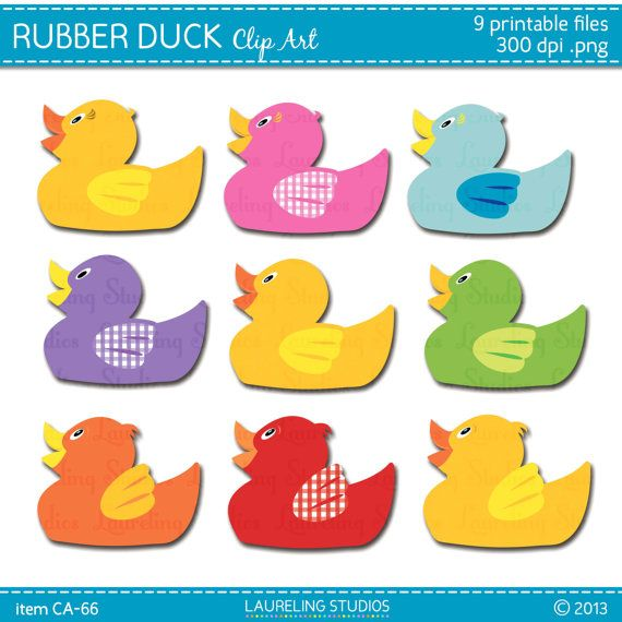 9 Rubber Ducky Clip Art Elements For Rubber By Laurelingstudios 2 99 Rubber Ducky Baby Quilts Ducky