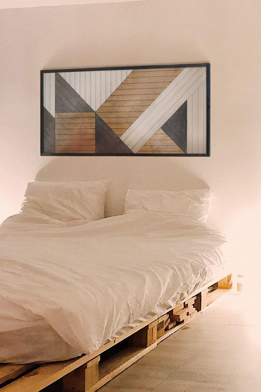 Modern Wood Wall Hanging- Large Geometric Wood Wall Panel- Modern Geometric Wooden Wall Art-Wall Art