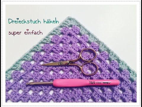 Fertig Mein Gehäkeltes Lace Dreieckstuch Hooks Needles Yarn