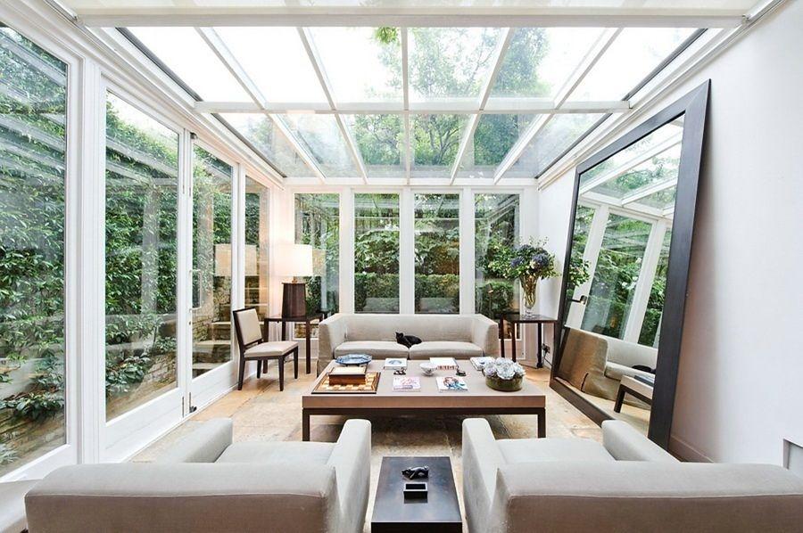 copertura terrazza in vetro | Outdoor seating area | Pinterest ...