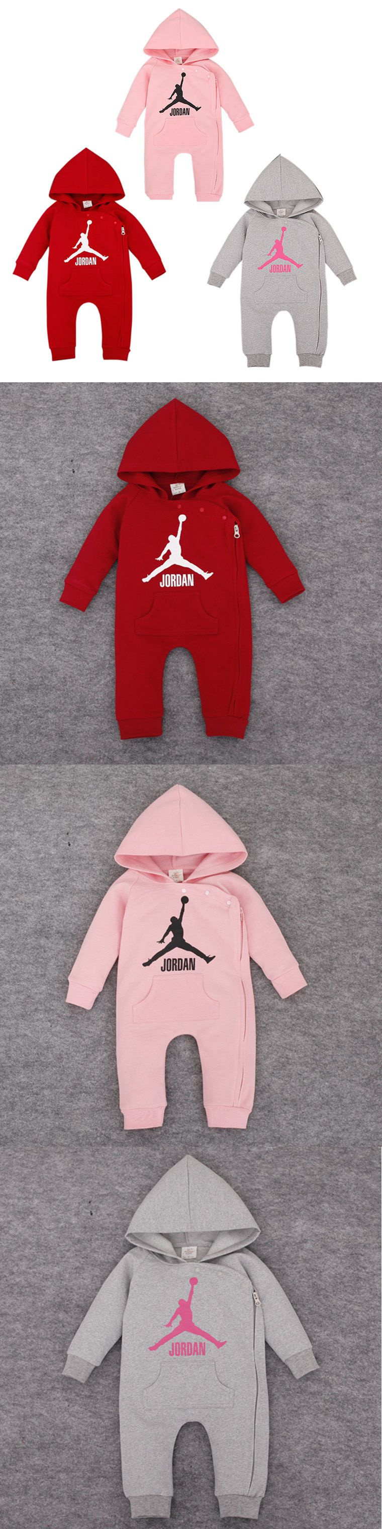 e0220c19f30b Outfits and Sets 147333  2018 Baby Jordan 23 Romper +Hat Boy Girl Long  Sleeve