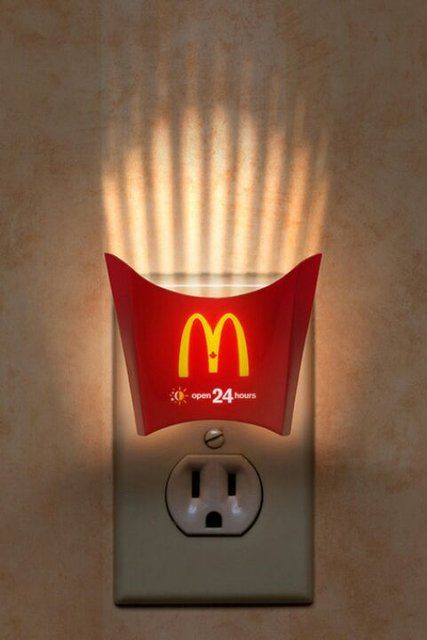 Mcdonalds Fries Night Light Funny Commercial Ads Clever