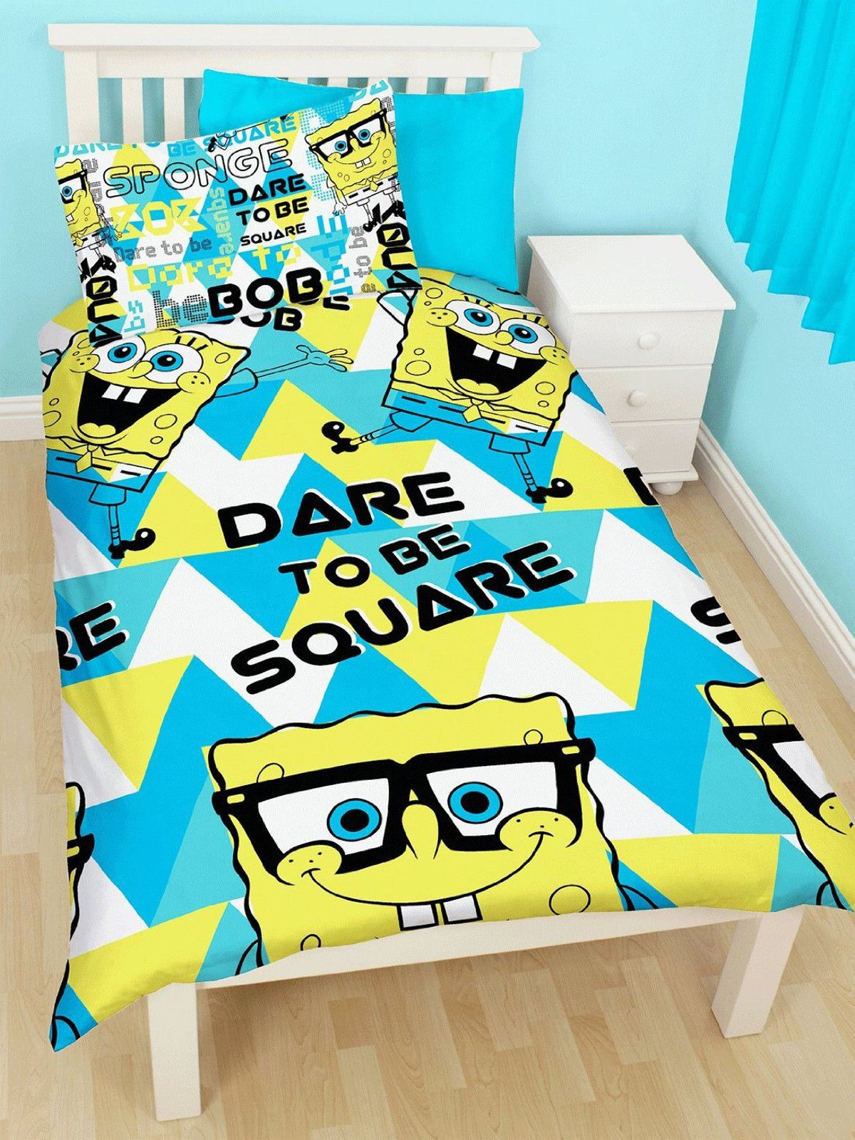"SpongeBob Squarepants ""Happy"" single duvet set Duvet"