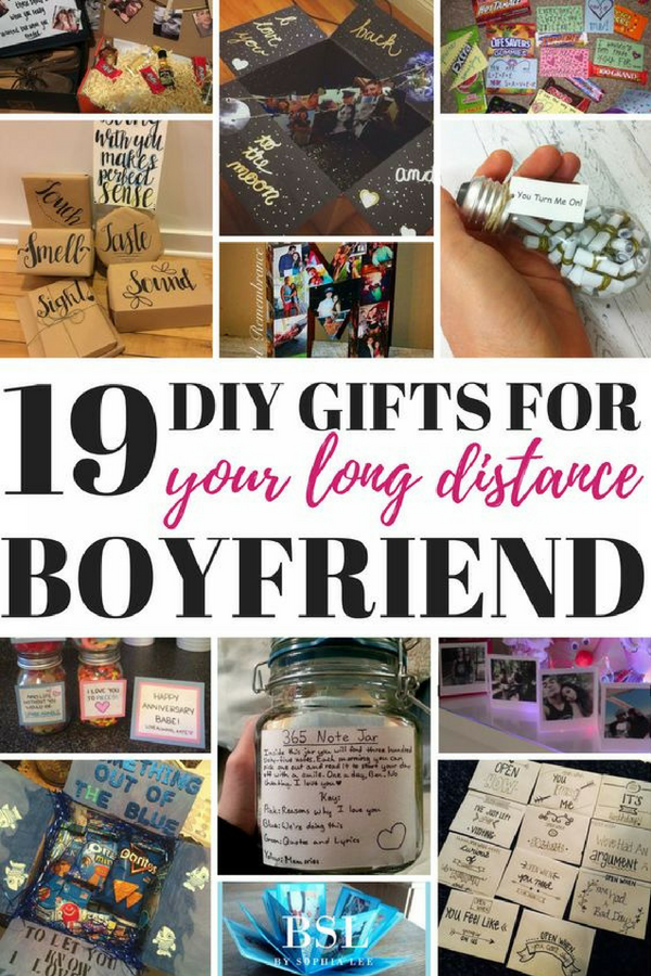19 Diy Gifts For Long Distance Boyfriend That Show You Care By Sophia Lee Boyfriend Gifts Long Distance Long Distance Boyfriend Long Distance Relationship Gifts