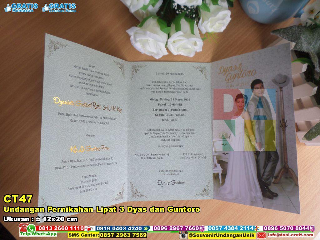 Undangan Pernikahan Lipat 3 Dyas Dan Guntoro Souvenir Pernikahan Undangan Pernikahan Souvenir Pernikahan Pernikahan