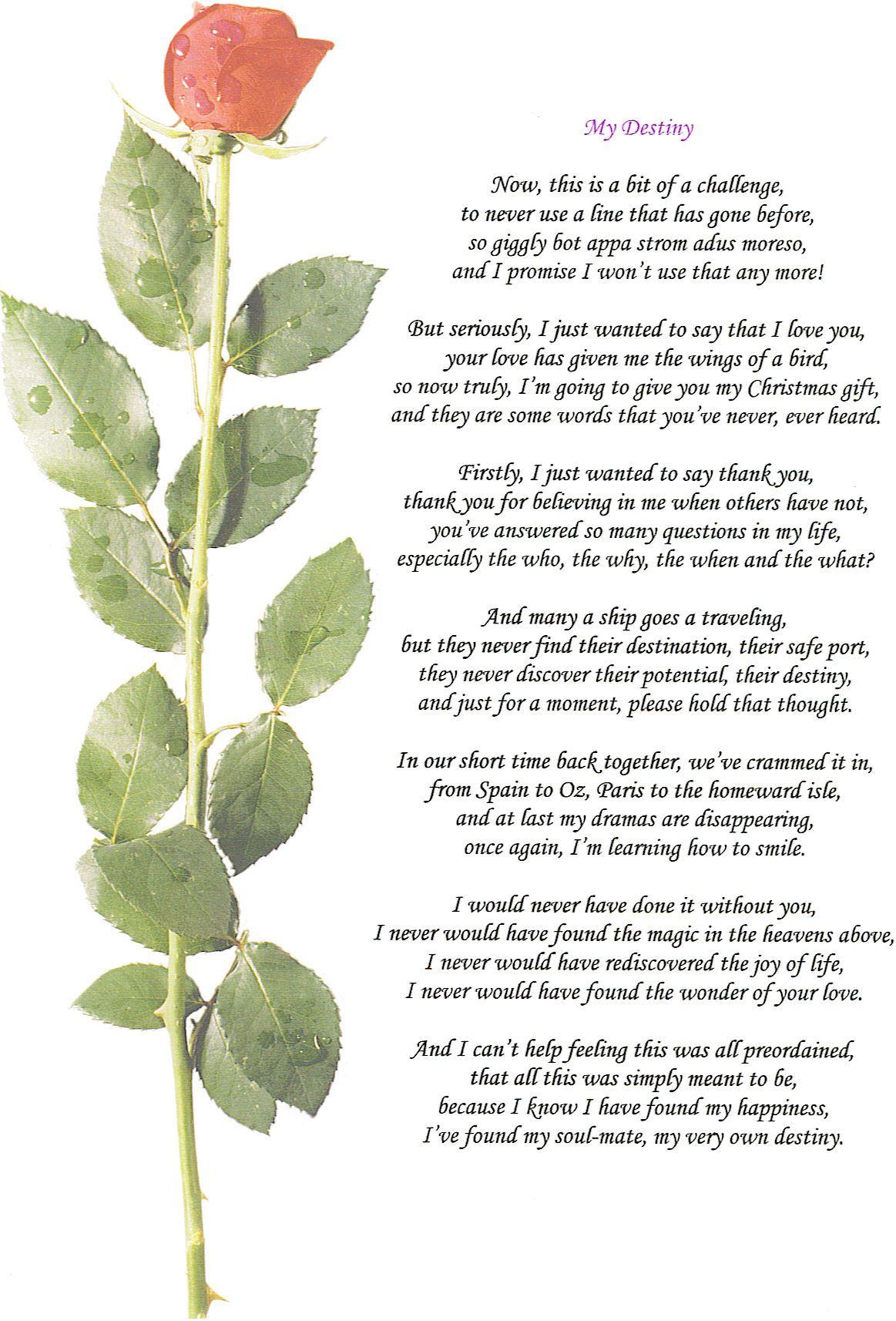 2nd Wedding Anniversary Poems | deweddingjpg.com