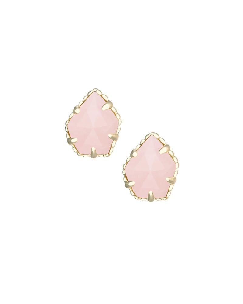 Tessa Stud Earrings In Rose Quartz Kendra Scott Jewelry