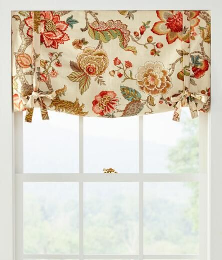 Alexandria Lined Tie Up Valance Country Curtains