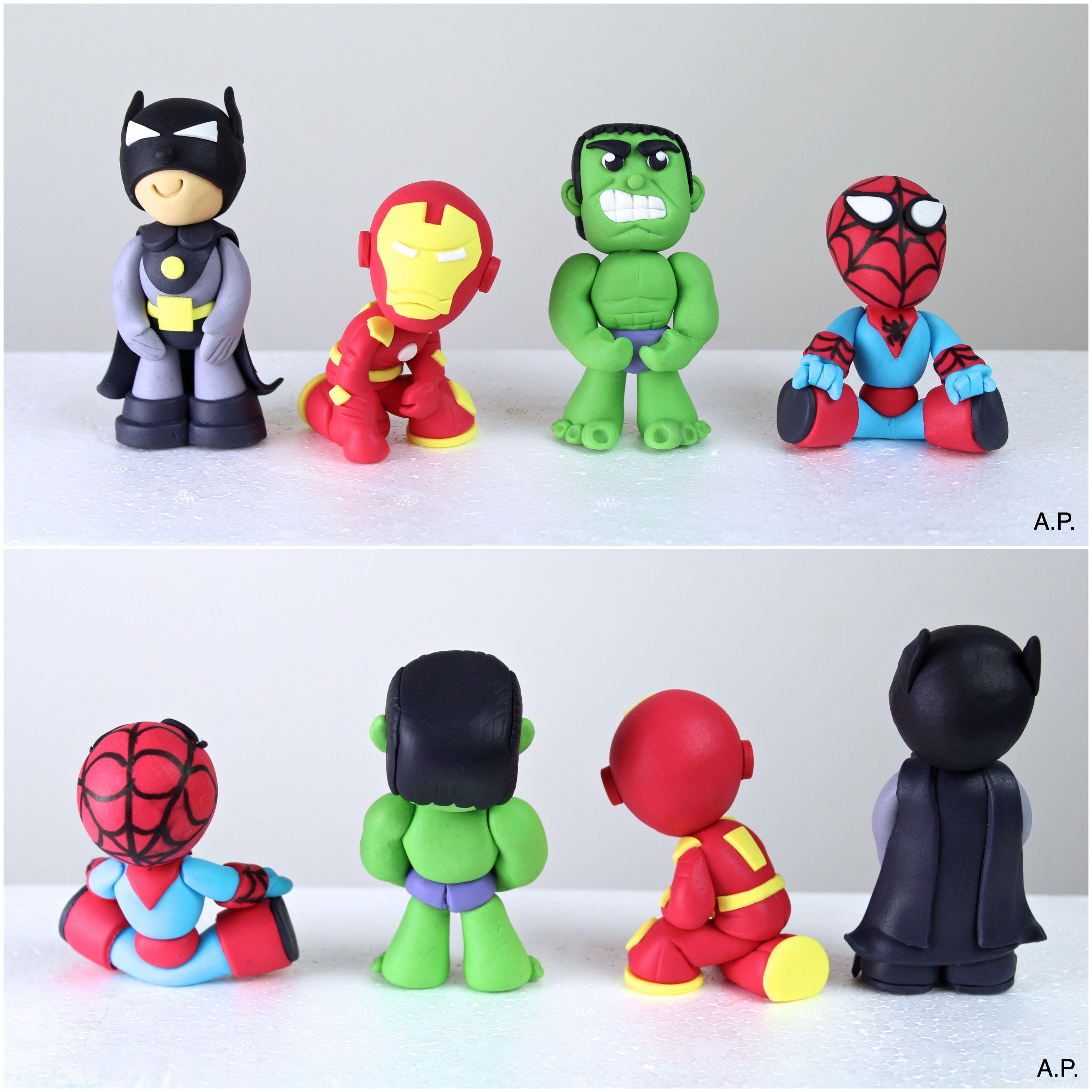 fondant superman hulk batman iron man marvel cake pinterest torten fondant und tortendeko. Black Bedroom Furniture Sets. Home Design Ideas
