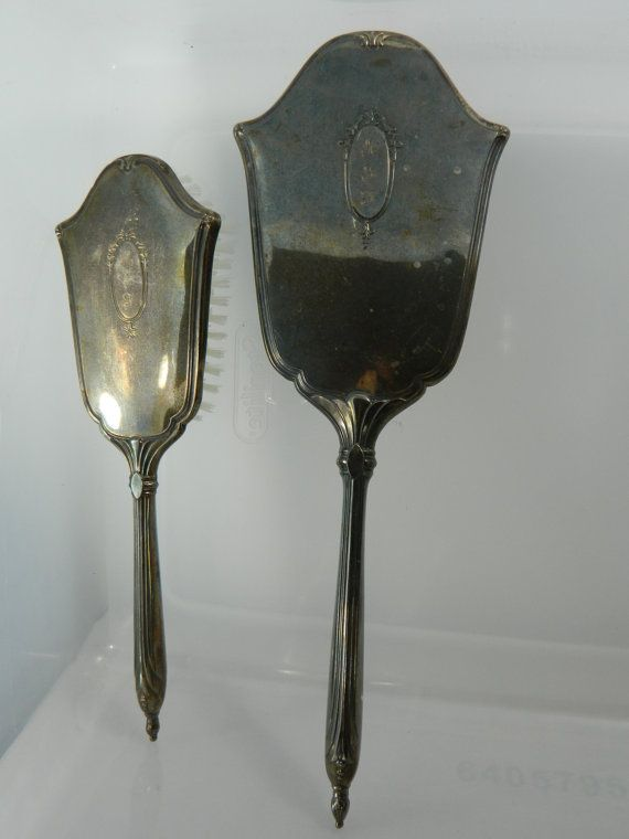 Vintage Sterling Silver Brush and Mirror by 3sisterstreasures, $179.99