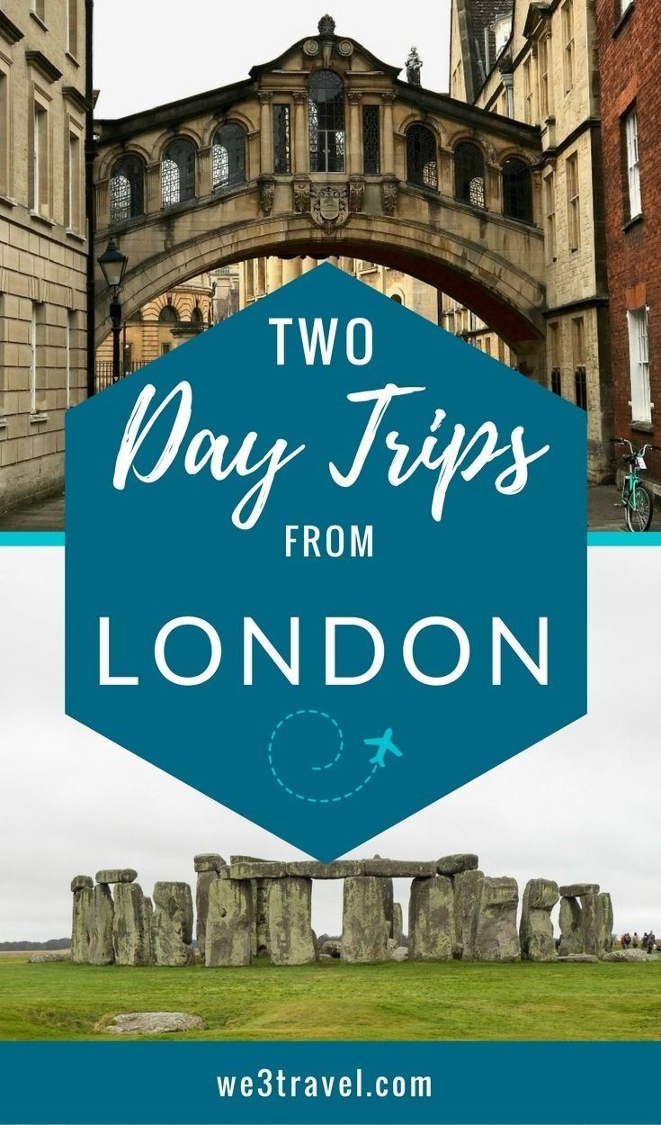 Two day trips from London that are great for families - London travel tips and ideas - Stonehenge and Oxford day trips.
