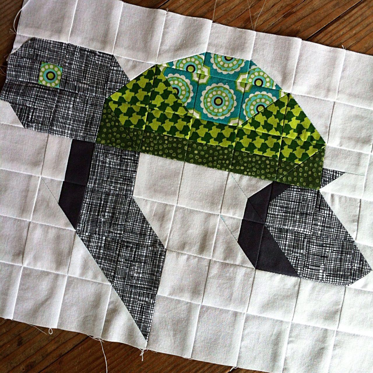 Sea Turtle Block Quilt Patterns Modern Quilt Blocks