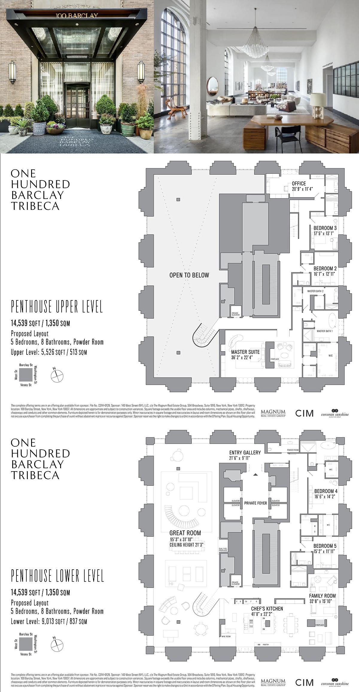 100 Barclay Street Penthouse Penthouse In Tribeca Manhattan Streeteasy Penthouse Apartment Floor Plan Mansion Floor Plan Home Building Design