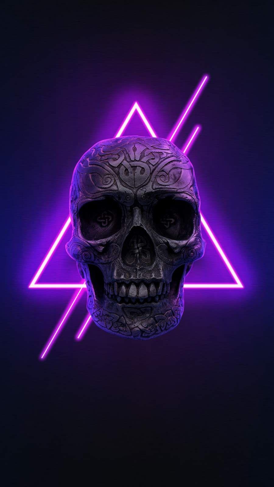 Neon Skull Iphone Wallpaper In 2020 Iphone Wallpaper Skull Wallpaper Hd Cool Wallpapers