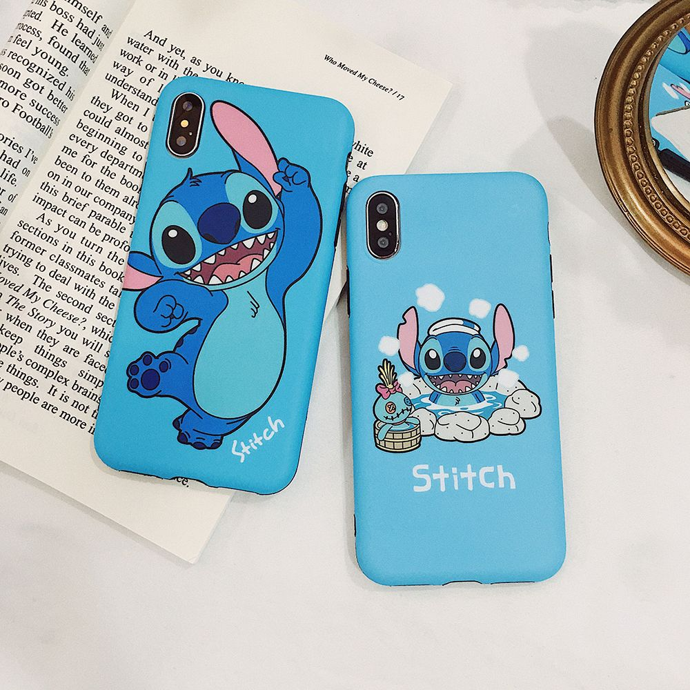 Cute Hot Springs Lilo Stitch Case For Iphone 11 Pro X Xr Xs Max 7 8 6 Plus Cartoon Stich Matte Soft Si Cool Iphone Cases Silicone Phone Covers Cute Phone Cases