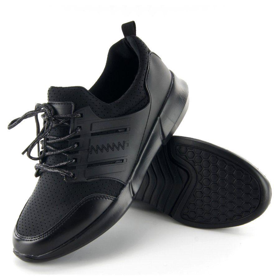Lekkie Buty Sportowe B3120b Sp Black Czarne All Black Sneakers Shoes Sneakers